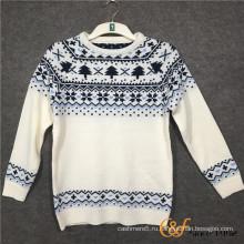 Круглый шаблон двойной слой Жаккардовые толстые теплые свитера для мальчиков