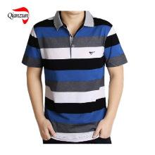 Baumwollstreifen Kurzarm Polo T-Shirts (ZJ-6802)