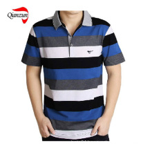 Cotton Stripe Short Sleeves Polo T Shirts (ZJ-6802)