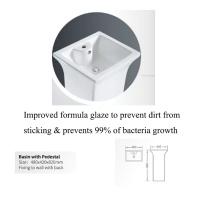 new design ceramic hot sale big standing basin for public project