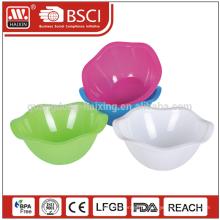 Quente vendas 2015 decalque ecológico único plástico saladeira com BPA livre
