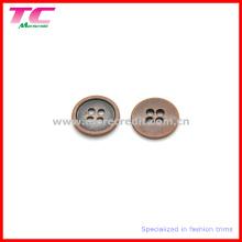 Botón redondo de cobre de la camiseta de Flatback de 4 agujeros