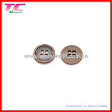 4 Holes Copper Round Flatback Shirt Button