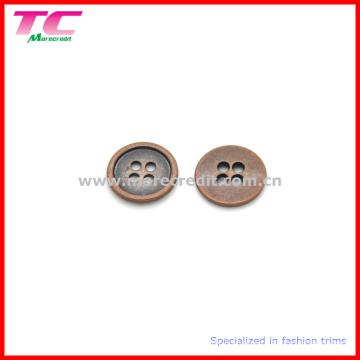 4 Holes Copper Round Flatback Shirt Button