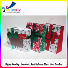 Le nouveau coffre-cadeau pliant en papier de conception de Noël