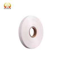 50 Mikron undurchsichtiges weißes Polyesterband