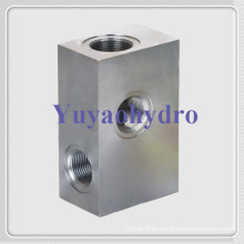 Stainless Steel Rectangle Junction Block Flanges