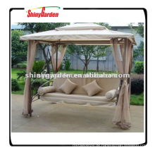 Shinygarden Garten im Freien Stahl Metallrahmen Terrasse Pavillon Hängende Schaukel Stuhl Bett