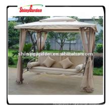 Shinygarden jardin en plein air en acier cadre en métal patio gazebo suspendus fauteuil-lit
