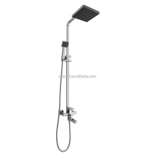 KDS-21 economic warranty quality black head shower square single handle chrome plated brass rain shower