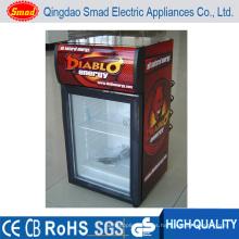 Cerveza personalizada Pequeño refrigerador de la exhibición de la bebida de la energía del mini refrigerador