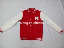 Red Color Custom Baseball Man Jacket Design
