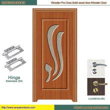 Puerta de puerta doble de oscilación Puerta de PVC puerta interior de PVC