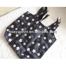 Floral folding polyester shopping bags/Thickening small flower polyester supermarket bag-1062