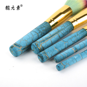 Color Head Metal Aluminum Tube Makeup Brush