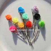 Fashion Rose Colors Hair Clip Slide Online Wholesale