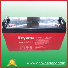 Bateria profunda do ciclo AGM de 12V 120ah para solar / telecomunicações
