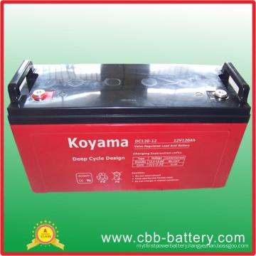 12V 120ah Deep Cycle AGM Battery for Solar / Telecom