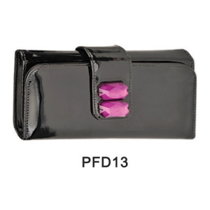 PU case with ruby buckle for makeup kit