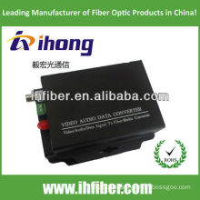 1 Channel Fiber Optic Video Converter singlemode 20km high end quality
