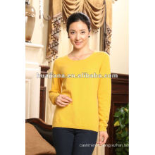 90 colors women's cashmere basic design sweater