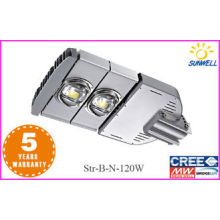 Adjustable beam angle 120w Solar Outdoor Led Street Lights Residential Subway