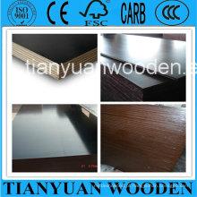 Madeira compensada exterior de 18mm / madeira compensada de cofragem do molde exterior da construção