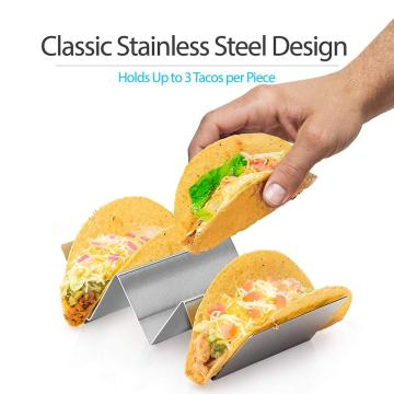 2-Pack Taco Holder Stand de acero inoxidable