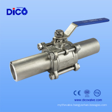 Industrial Grade Extended Weld 3PC Ball Valve