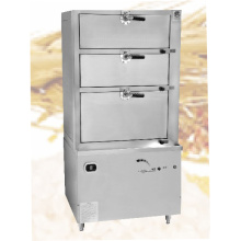 Gas kitchen sea food stainless steel steam cabinet