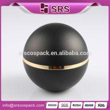 Top Sell Мэтт черный шарик формы акриловые банки и косметический пластиковый крем Jar 100г