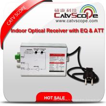 Fournisseur professionnel Haute performance 2 voies Sortie CATV FTTH Récepteur optique intérieur avec EQ et Att
