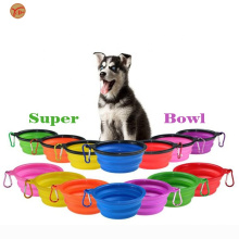 Foldable Expandable Cup Dish for Pet Cat Food Water Feeding Portable Travel Bowl