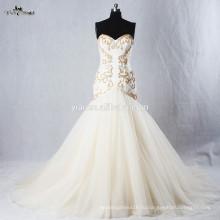 RSW940 дно тюль Хрустальные бусины для шампанского цветные свадебные платья Русалка 2015