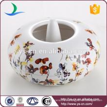 Venta al por mayor de flores y plantas calcomanía cerámica Aroma Burner