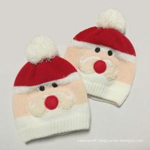 Children Baby Kids Knitted Snowman Embroidery Winter Warm Beanie (HW638)