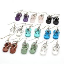 Fashion Design Amazon Best Seller New Stone Dangle Earrings for Women Statement Shoes Drop Earrings