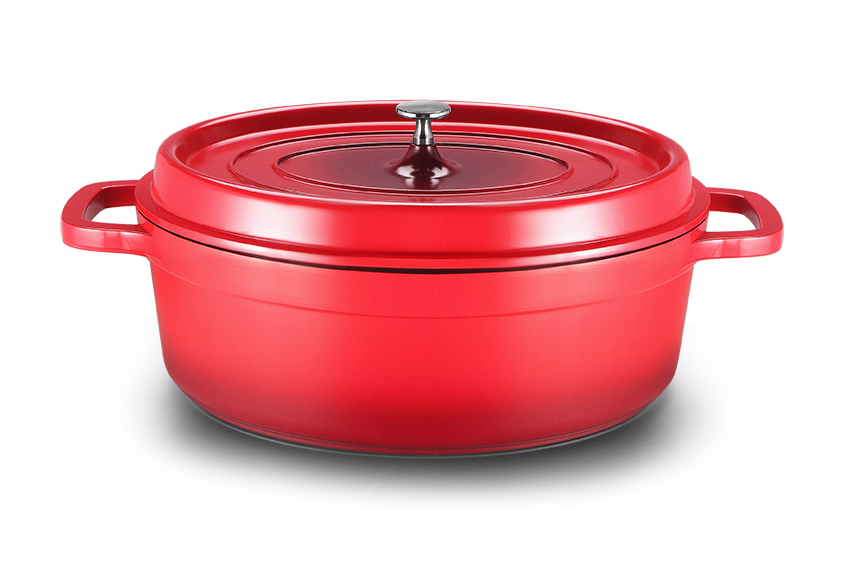 Hot Sale French Aluminum Die-casting Oval Casserole