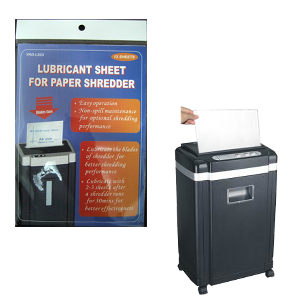 Lubricant Bag for Paper Shredder