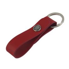 Porte-clés en cuir de voiture PU promotionnelle avec logo Vw (F3050A)