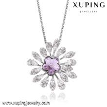 Bijoux de mode de haute qualité 43808 Crystals from Swarovski, collier d'améthyste