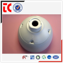 White custom made aluminum camera housing die casting