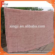 Manta de piel de visón de color rosa teñido
