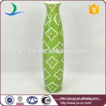Handpaint verde antigüedades china dolomita jarrón