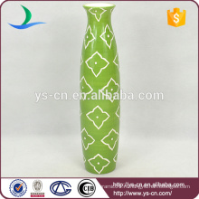 Handpaint зеленый антиквариат фарфоровая ваза доломита