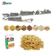 Copos de cereales de hojaldre de maíz que hacen la máquina