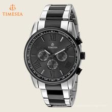 De Luxo De Cerâmica E Aço Moda Esportes Relógio De Pulso Cronógrafo 72509