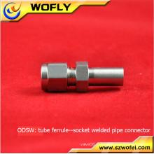 Système de compression à cosses droites ss316 raccords d'air à tuyau soudé