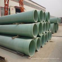 Beijing China al por mayor de suministro de agua industrial de fibra de vidrio compuesto de fibra de riego verde grp tubería
