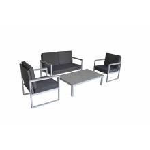 Jardim do pátio ao ar livre de vime mobiliário Lounge sofá do rattan